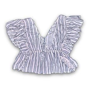 butterfly shaped ruffle top! 🦋